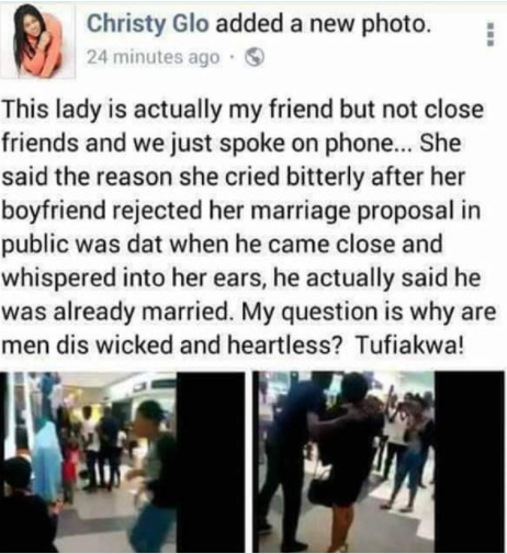 Update On Why This Lady's Marriage Proposal Was Rejected
