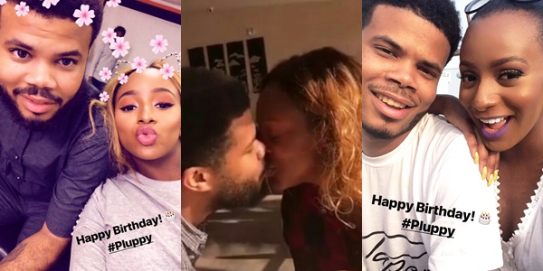 VIDEO: DJ Cuppy and boyfriend Asa Asika lock lips on his birthday