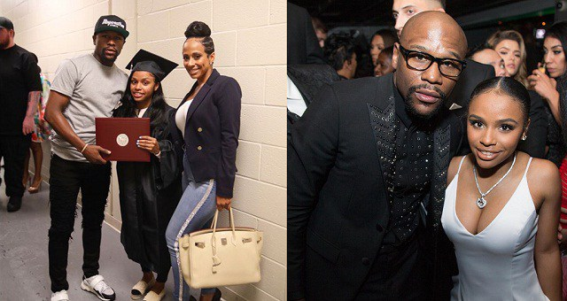 Floyd Mayweather celebrates daughter receiving her diploma certificate