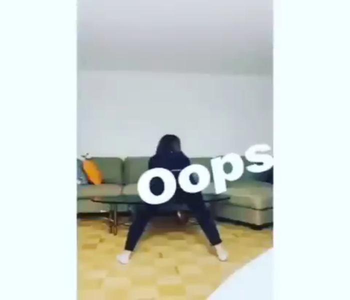 Twerking Gone Wrong, Sexy Lady Breaks Glass Table While Shaking Booty