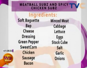 Meatball Subz And Spicy Chicken Subz (Recipe)