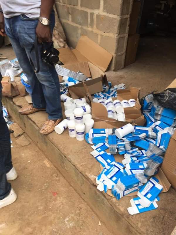 Hidden Fake Drug Factory Discovered and Suspects Arrested In Ikotun, Lagos State
