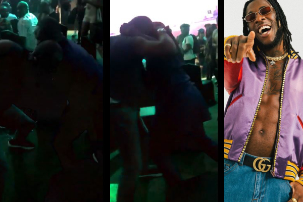 Fight at burnaboy concert