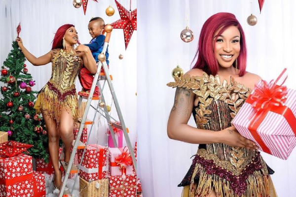 Tonto Dikeh celebrates Christmas with her son, shares lovely photos
