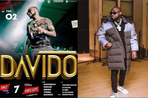 Davido Plans To Surpass Wizkid's achievement filling up the 20,000 capacity 02 Arena In Uk