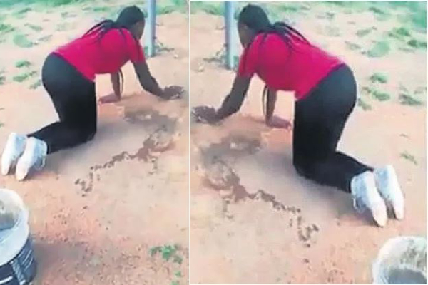 Wife Forces Her Husband's Side-Chick To Do House Chores After Been Caught
