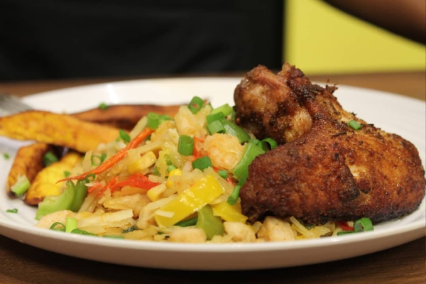 Ever Tried Eating Abacha Stir Fry And Plantain Strips? It's Absolutely Tasty And Nutritious