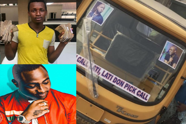 Davido Hails Male Fan For Investing The One Million Naira He Gave Him Wisely