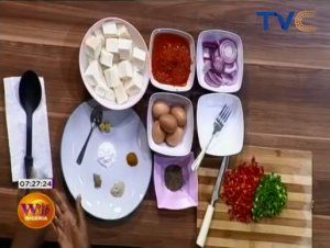 Boiled Yam Cubes And Stewed Egg