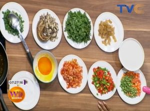 How To Prepare Coconut Flavored Rice and Veggie Sauce...Simple Recipe