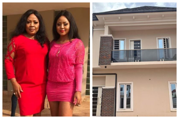 Actress Regina Daniels gifts her mum a house