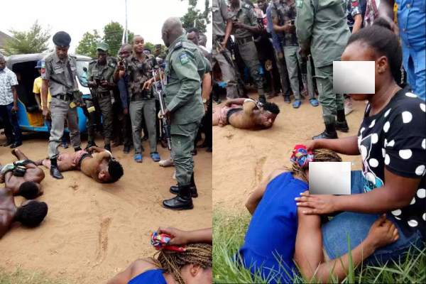 Nigerian Police saves lady from been used for ritual by suspected Yahoo Boys