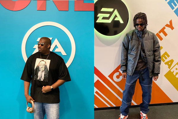 Don Jazzy and Rema were spotted at the EA sport centre in US