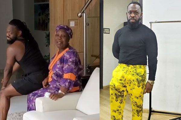 Timaya gives him mum a lap dance
