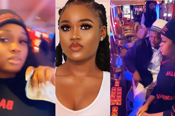Cee-C wins big after gambling in a casino in Las Vegas