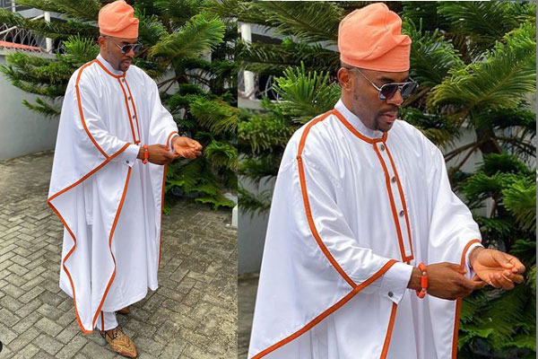 Ebuka makes a statement with his outfit again