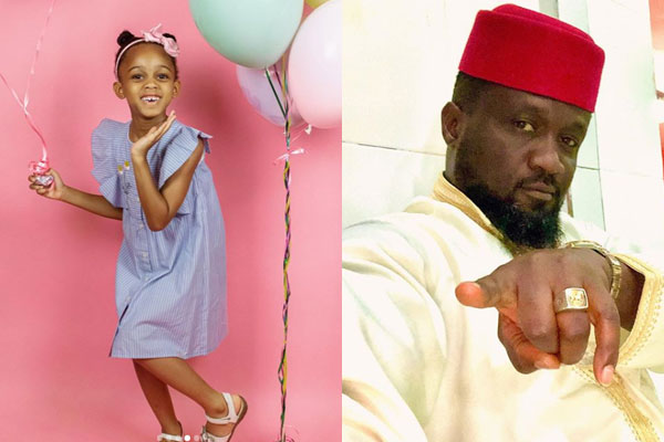 Jude Okoye celebrates his daughter, Emma Adanna Okoye as she clocks 5yrs today