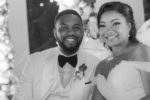 Nollywood actress, Linda Ejiofor celebrates 1years wedding anniversary with her husband, Ibrahim Suleiman