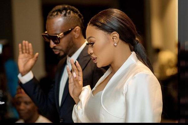 9ice and Olasunkanmi makes the wedding vow; See wedding photos