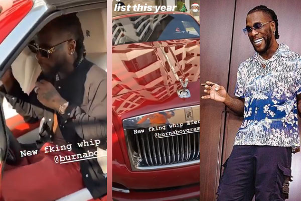 BurnaBoy adds a Royce Rolls Dawn worth about $350,000 to his fleet of cars