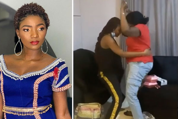 Check out the beautiful moment, Simi was caught of camera dancing with her mum