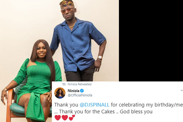 Niniola and DJ Spinal spark dating rumors