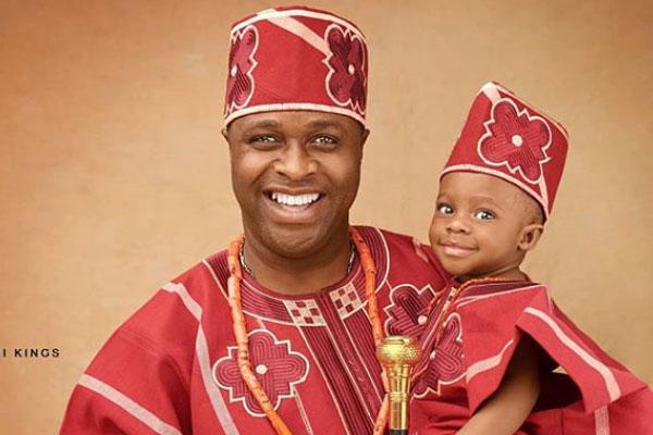Nollywood actor, Femi Adebayo celebrates his son, Fadhil as he clocks one.