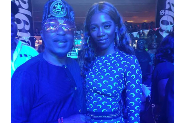 Oluwo of Iwoland says, Who no like better thing ? as he posed for a photo with Tiwa Savage