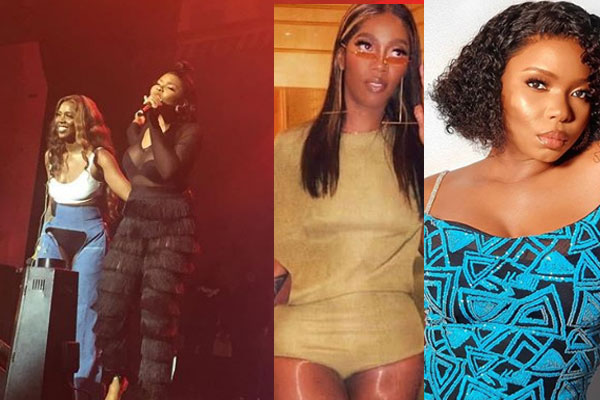 Tiwa Savage invited Yemi Alade on stage during her show