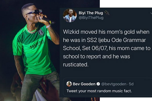 Throwback story about Wizkid