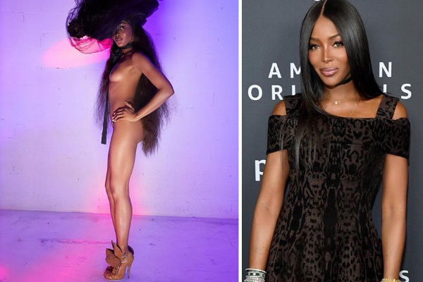 49years old Super model, Naomi Campbell bares all in new campaign