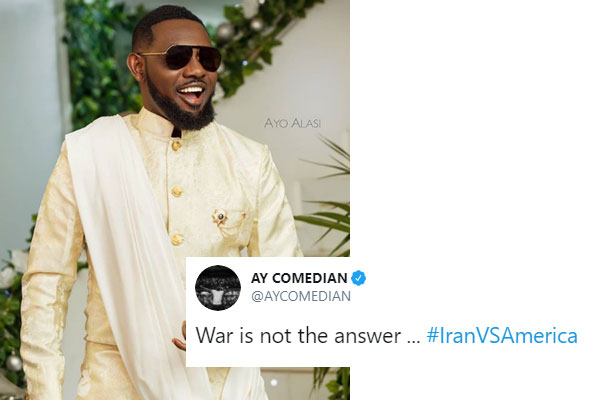Ay comes under fire on Twitter for aTweet he made regarding the war between US and Iran