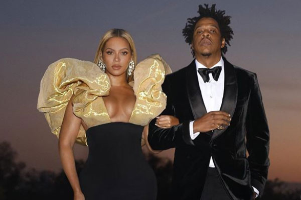 Beyonce and Jayz at the Golden Globe awards Last night