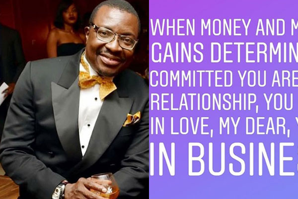Alibaba speaks on Money in Relationship