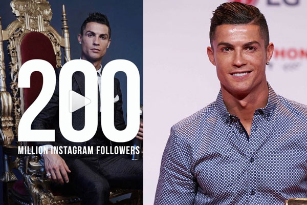 Cristiano Ronaldo becomes the First Instagram user to reach 200M Followers