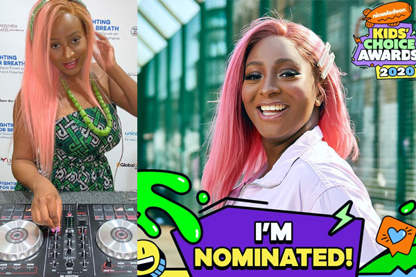 Awards- DJ Cuppy has been been nominated for a Nickodeon Kids Choice Awards