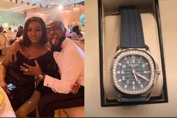 Davido gifts Chioma a Patek Philips Wrist Watch worth thousands of Dollars