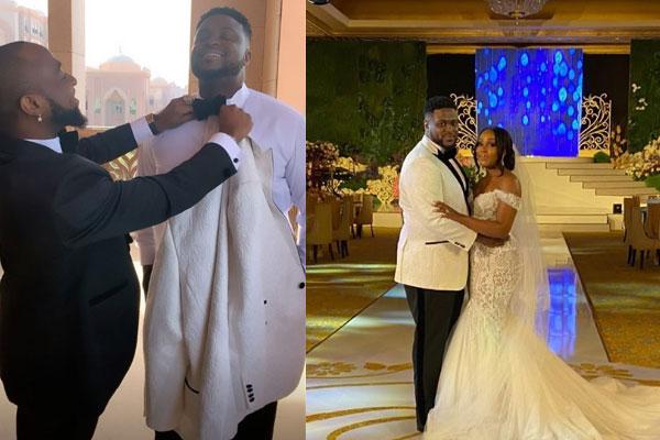 Davido joins his brother, Adewale Adeleke aka ChairmanHKN as he wedds his bride in Dubai