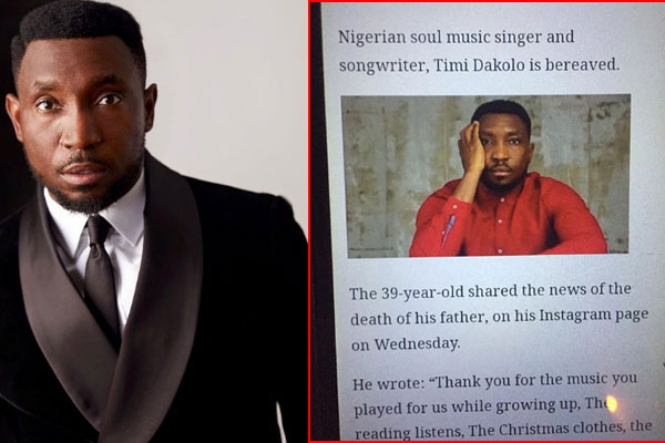 Timi dakolo: '.. my father is alive and doing well.'