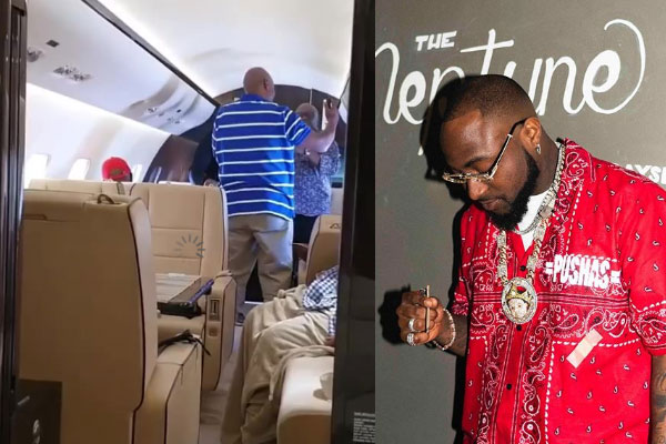 Check out video of Davido's dad, Adedeji Adeleke and friends dancing and singing praises to GOD in his new Private Jet