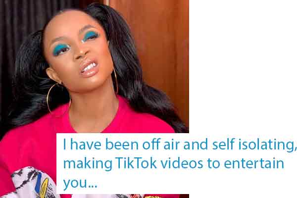 Covid-19-Toke Makinwa gives updates about her condition since the AMVCA last week