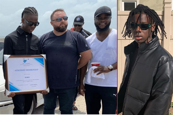 Muisc artist, Rema gets honoured with a free membership because of his song, Beamer
