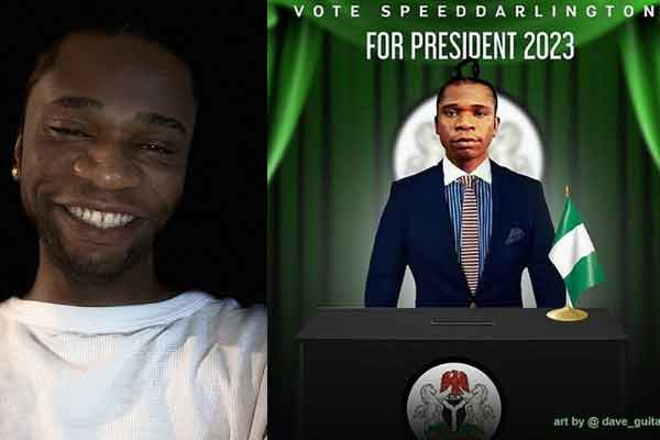 Music artist, Speed Darlington reaffirms his commitment towards his 2023 presidential ambition