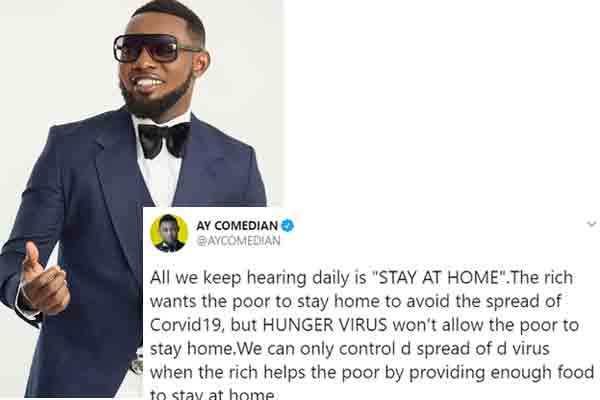 Ayo Makun - All we keep hearing daily is STAY AT HOME