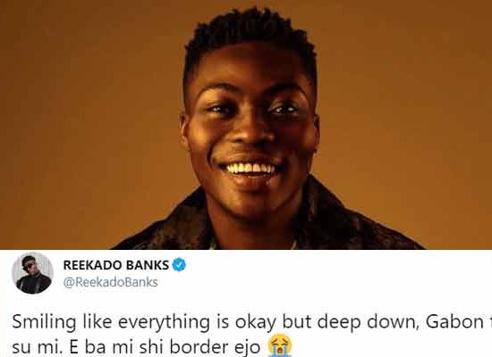 Covid-19 - REEKADO BANKS is stucked in Gabon
