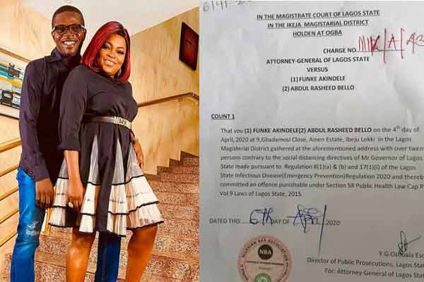 Lockdown- Funke Akindle and husband gets final judgement from court