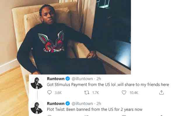 Covid-19: RunTown receives stimulus Payment from US