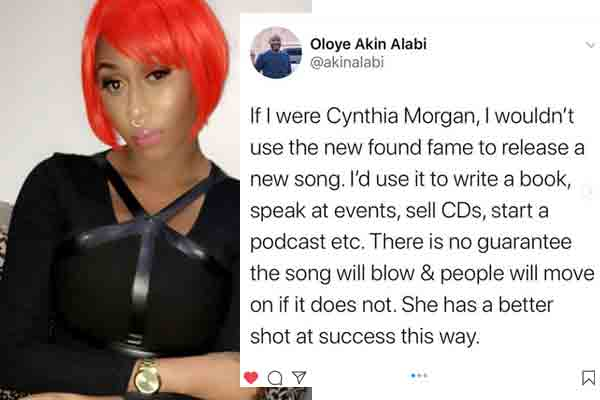 Author, Akin Alabi advises Cynthia Mogan to write a book