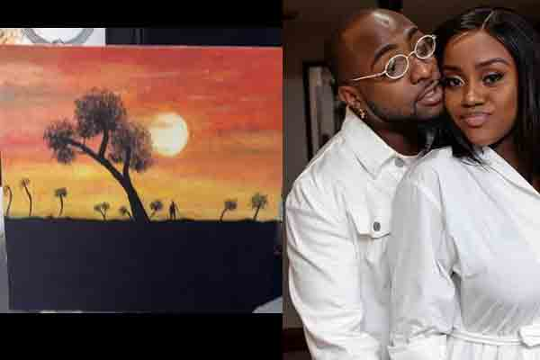 "Davido: ""My wife painted this for me yesterday """