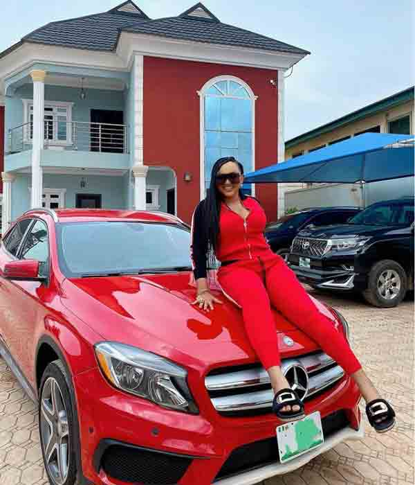 Mercy Aigbe joins the benz gang